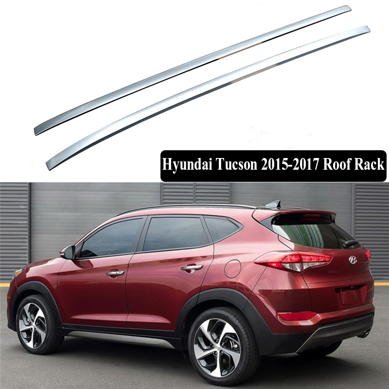 JIOYNG For Hyundai Tucson 2015-2017 Roof Rack Rails Bar Luggage Carrier Bars Top Racks Rail Boxes ABS