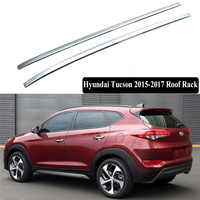 JIOYNG For Hyundai Tucson 2015 2017 Roof Rack Rails Bar Luggage Carrier Bars top Racks Rail Boxes ABS