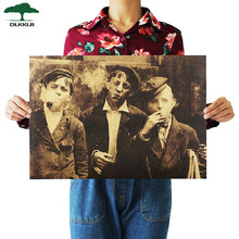 Dlkklb American Newsboy nostálgico Retro Kraft papel Poster Bar Café pintura decorativa de Bar pared pegatina 51,5x36 cm decoración del hogar(China)