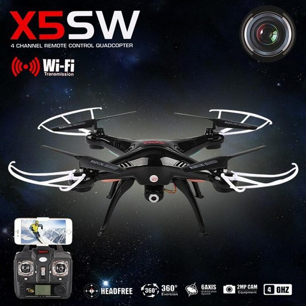 SYMA X5SW with WiFi FPV Camera Headless Real Time RC Helicopter Quad copter RC Drone Quadcopter Toys rc drone quadcopter x6sw with hd camera 6 axis wifi real time helicopter quad copter toys flying dron vs syma x5sw x705