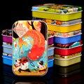 Free shipping kids 60PCS wooden puzzle toys/cartoon animation/tin box,Children's educational toys