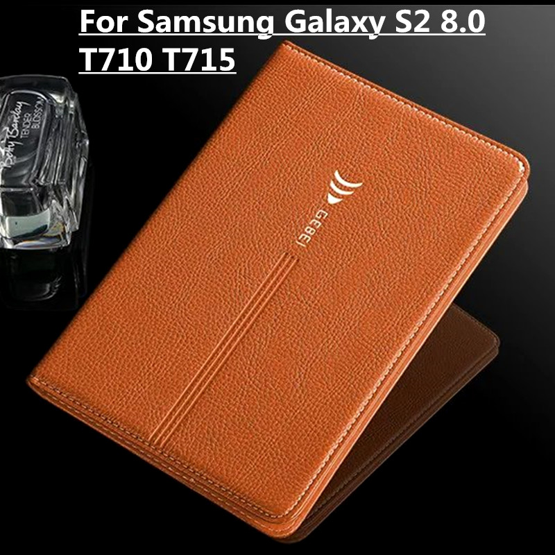 T715 Leather Case for Samsung Galaxy Tab S2 8.0 T710 T715 Flip Luxury Leather Stand Case Smart Cover for Samsung Tab S2 8 Inch