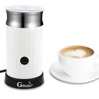 Gustino Automatic Cappuccino Coffee Maker Electric Milk Bubble Machine Milk Frother Foamer Cup Heat Latte Hot Foam Maker Warmer