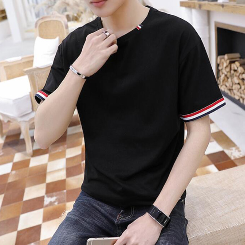 Men/'s Casual O-Neck Letter Printed Short Sleeve T-shirt Pullover Top Blouse US