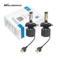 MALUOKASA 1Pair V1S Auto H4 9003 HB2 Hi Lo LED Headlight Bulb 72W 8000LM COB LED