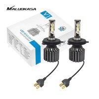 MALUOKASA 1Pair V1S Auto H4 9003 HB2 Hi Lo LED Headlight Bulb 72W 8000LM COB LED