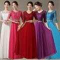 2017 mulheres elegantes vestidos de festa tamanho do vestido formal longo vermelho escuro 8 para a mãe do noivo da noiva modest para casamento do outono W3665