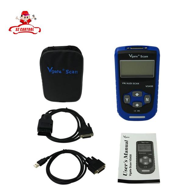 Envío Gratis Vgate Vs450 VAG VW Escáner Herramienta de Diagnóstico OBD2 Scaner Para Coche Escáneres de Diagnóstico Automotriz