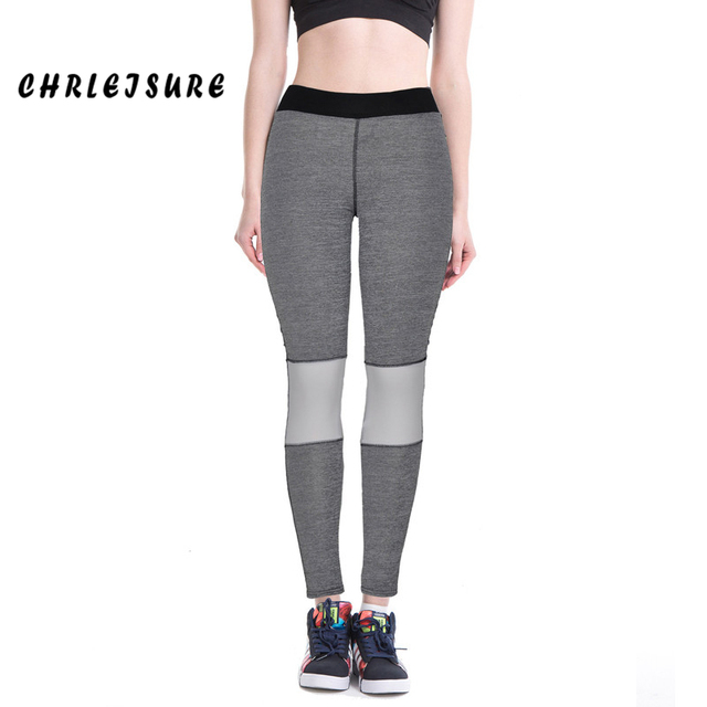 S-XL Women's Leggings Fashion Workout Sportswear Patchwork Gray Femme Ankle Length Spring Summer Jeggings Girls Leggings Women
