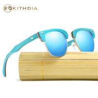 KITHDIA Brand Naturl Wood Sunglasses Women Retro Vintage Polarized Skateboard Wooden Glasses Oculos De Sol Goggle