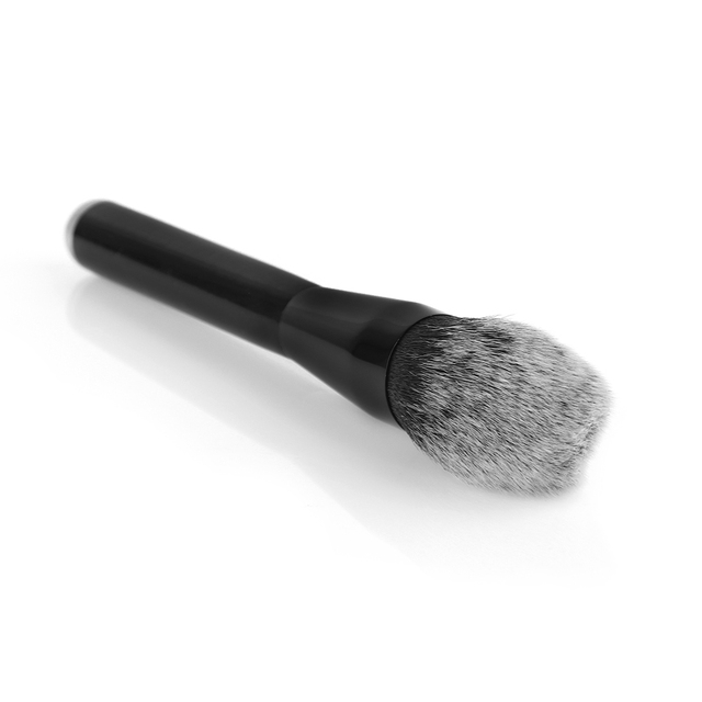 1 PC Soft Fashion Women Black Aluminum Tube White-tipped Face Powder Beauty Cosmetic Tool Flame Head Blush Brush Foundation Makeup Brushes