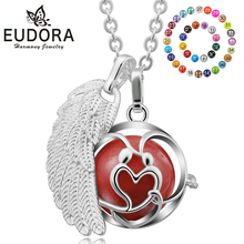 Eudora Harmony Bola Ball 2017New Locket Cage Pendant Angel Caller Chime Ball Sound 20mm Mexican Bola with Chain Necklace Jewelry