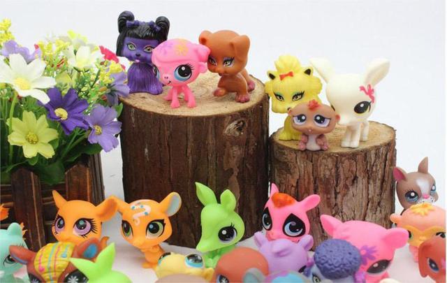 LPS Toy bag 20Pcs/bag Little Pet Shop MiniFigures Toys Littlest Animal Cat patrulla canina dog Action Figures Kids toys 0031