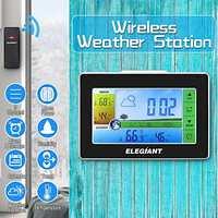 Elegiant EOX-9908 relógio despertador  sensor sem fio  termômetro  higrômetro  estação meteorológica interna e externa