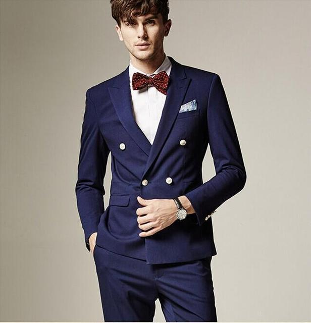 New Arrival Mens Wedding Suits Double Breasted Groom Tuxedos ...