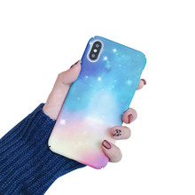 PC Case For iPhone XS X XR Max Phone Luminous Cover 6S 7 7Plus Dustproof Star Light Pattern