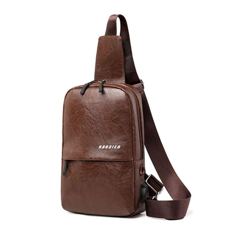 Shoulder-Bag Chest-Pack Messenger-Sling Crossbody Usb-Charging-Port Travel Men