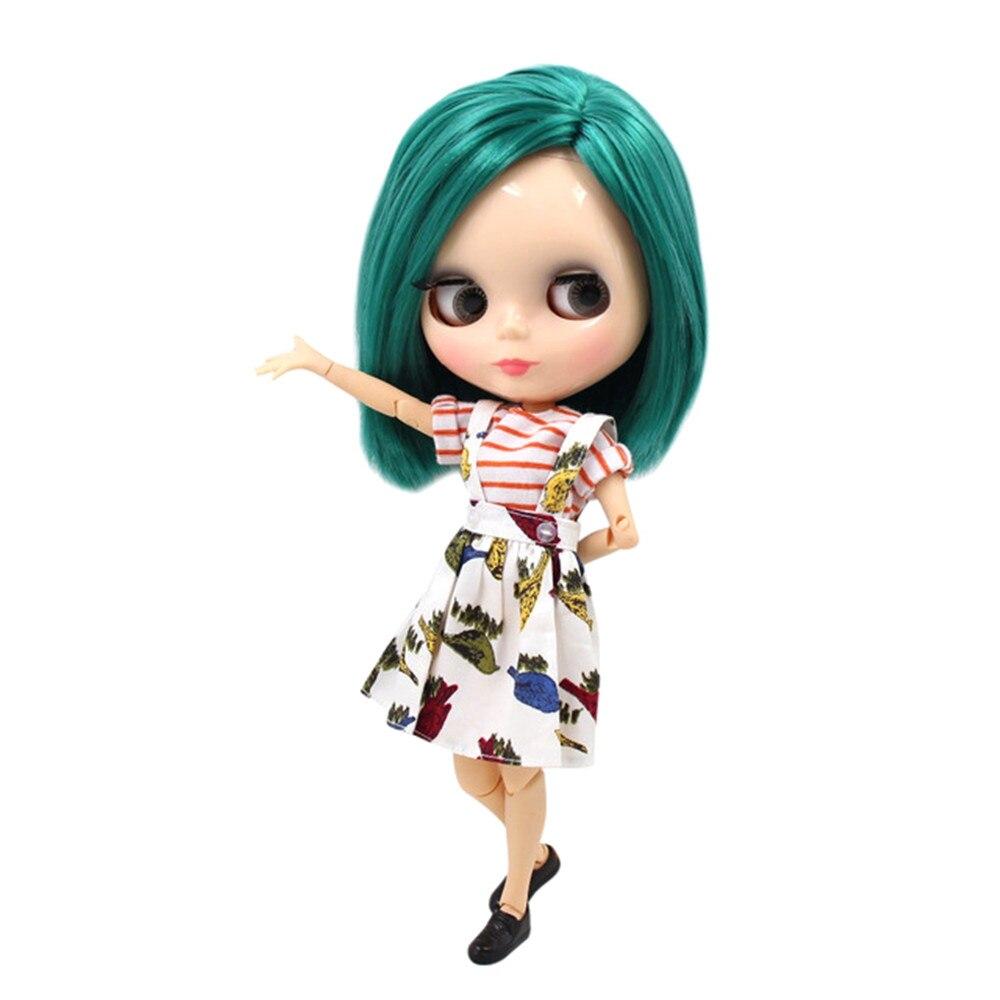 Muñeca blyth 1/6 muñecas bjd NO. BL1206 hermoso pelo recto verde misterioso para la piel natural de la muchacha presente-in Muñecas from Juguetes y pasatiempos    1