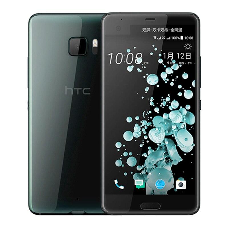 D'origine HTC U Ultra Mobile Téléphone LTE 4 GB RAM 64 GB ROM Snapdragon 821 2560x1440px Quad Core Android 7.0 3000 mAh NFC