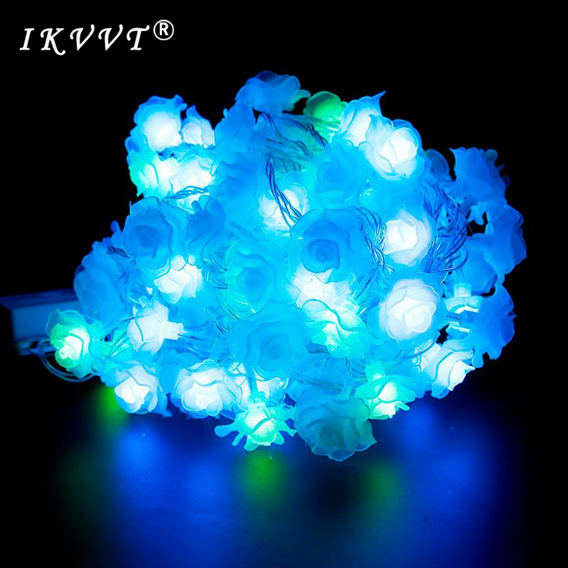 IKVVT DHL Shipping AC220V 100m 600 leds roses fairy tale lights holiday christmas holiday new year wedding decoration