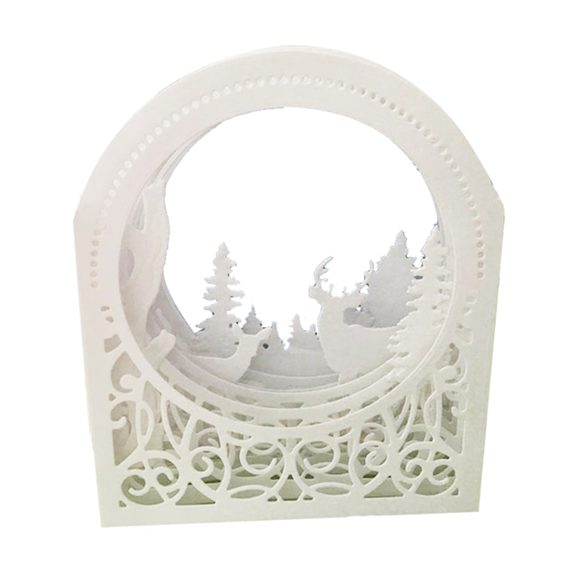 Diy Scrapbooking Lace Window Frame Metal Cutting Dies Stencils