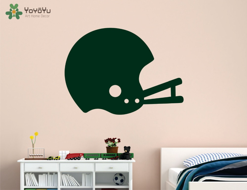 YOYOYU Wall Decal Football Helmet Pattern Vinyl Wall Stickers For Kids Rooms Boys Bedroom Sports Decals Home Decor Design SY778