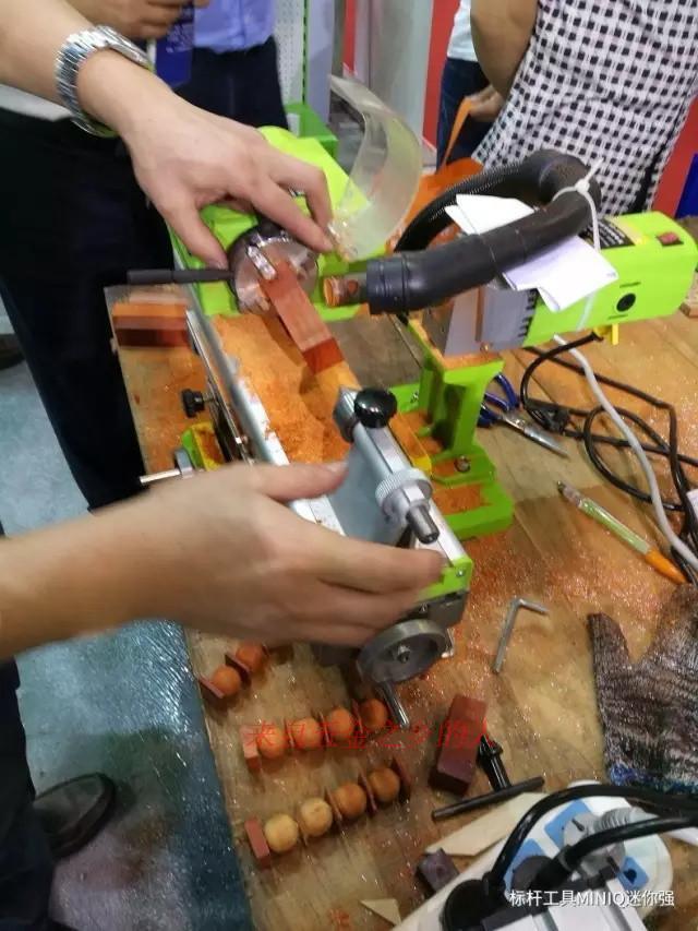 Купить с кэшбэком Beads Making Machine Small DIY Woodworking Bench Drill Micro-Polished Barrel Bead Ball Lathe