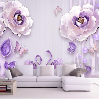 Customize Any Size Wallpaper Mural 3D Embossed Flower Wealthy Peony European Background Wall Painting Home Decoration Wallpaper girls bedroom embossed wallpaper pink background wall 3d wallpaper pvc roll classic flower wall paper peony floral wall covering