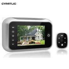 """3,"""" ЖК-дисплей, умный дверной звонок, цифровой дверной глазок, камера, дверной глазок, видео запись, 120 градусов, четкое ночное видение"""