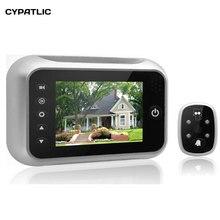 3,5 «ЖК-дисплей умный дверной звонок просмотра цифровой дверной глазок просмотра камера дверь глаз видео запись 120 градусов прозрачное ночное видение