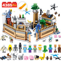 4385PCS Designer Building Blocks Kit Compatible LegoINGLYS Minecrafted Large Magic Castle Technic Model Bricks Children Toys
