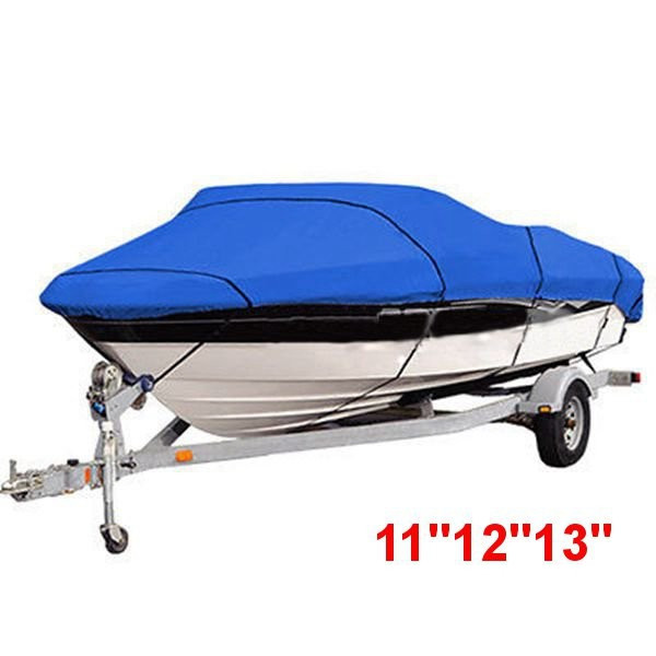 420*270cm 11 12 13 Boat Cover beam-90 Heavy Duty Trailerable Fish - Ski V-Hull Blue
