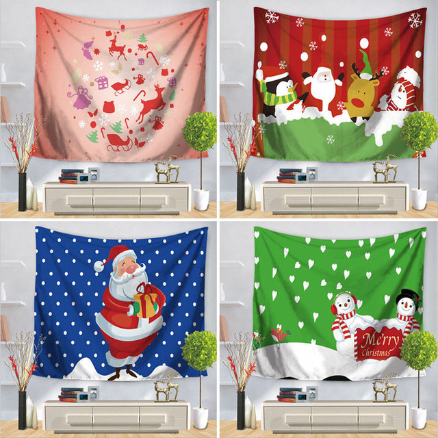 2017 christmas decorations for home decor wall hanging decor party queen bedspread picnic bath towel tablecloth - Queen Christmas Decorations