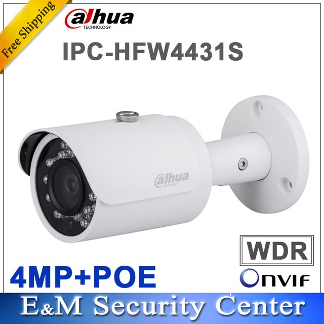US $108 0 |Original dahua DH IPC HFW4431S replace IPC HFW4421S 4MP Full HD  WDR Network Small IR Bullet Camera CCTV POE IPC HFW4431S-in Surveillance
