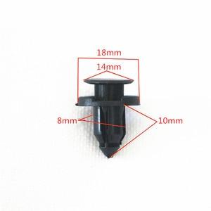 Image 2 - 50Pcs Diameter 8mm Black Plastic Auto Fasteners Rivets Clips  Vehicle Car Bumper Door Panel Fender Liner Clips Retainer