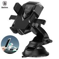 BASEUS Универсальный 360 градусов телескопические мобильных автомобильный держатель телефона для iPhone 7 6 6S плюс Samsung S8 Air Vent Подставка для телефо...