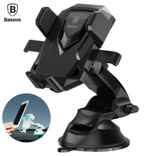 Buy online Baseus Universal 360 Degree Telescopic Mobile Car Phone Holder For iPhone 7 6 6s Plus Samsung S8 Air Vent Mount  Phone Stand