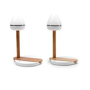 Image 4 - Draadloos Opladen מגע מנורת שולחן עץ QI אלחוטי טלפון מטען אוניברסלי אינדוקציה טעינה יחידה עבור iphone Xs מקס סמסונג S9