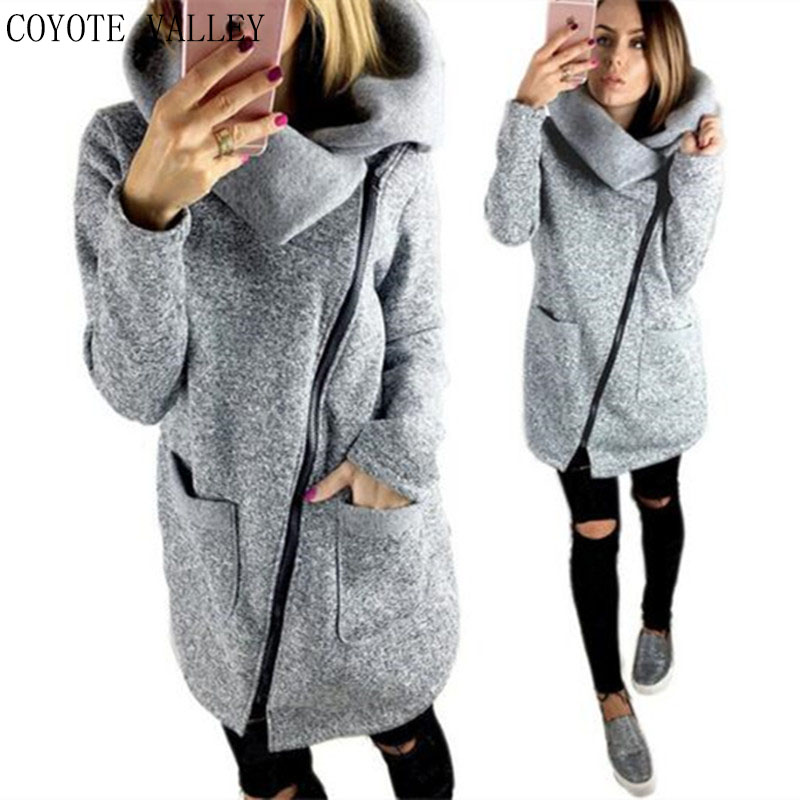Coats Real Solid Full No Coyote Valley Free Shipping 2017 Hot Style Winter Fashion Wholesale Side Coat Jacket - 5 Kpop Kawaii