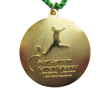 Factory direct football competition sports medal hot sale promotion electroplating gold