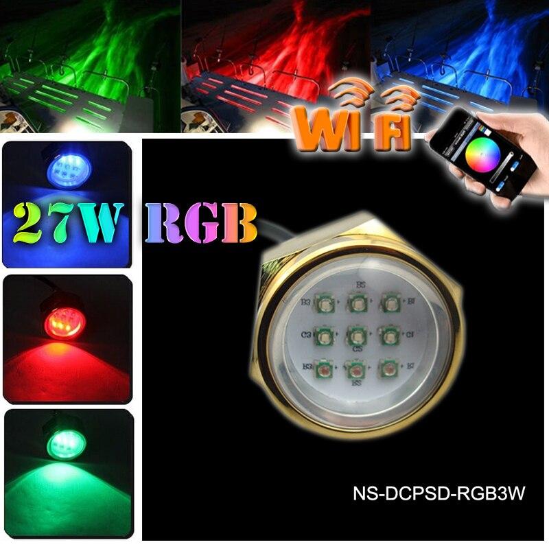 Led Marine Lamp 27W Boat Drain Plug Light 9 LED Boat Light Underwater Boat Lamp 12V