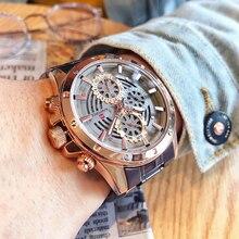 NAVIFORCE relojes creativos de cuarzo para hombre, cronógrafo deportivo, resistente al agua, 24 horas, de negocios, de acero