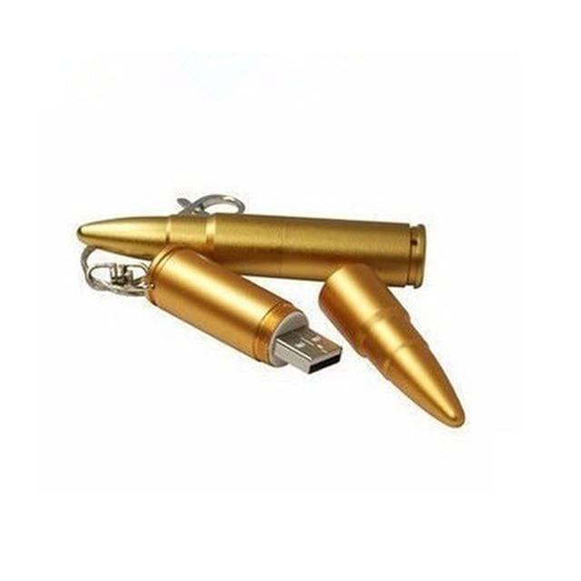 Wholesale full capacity Metal Bullet Shape Genuine 4GB 8GB 16GB 32GB USB Memory Stick Flash Pen Drive Pendrive Drop shipping