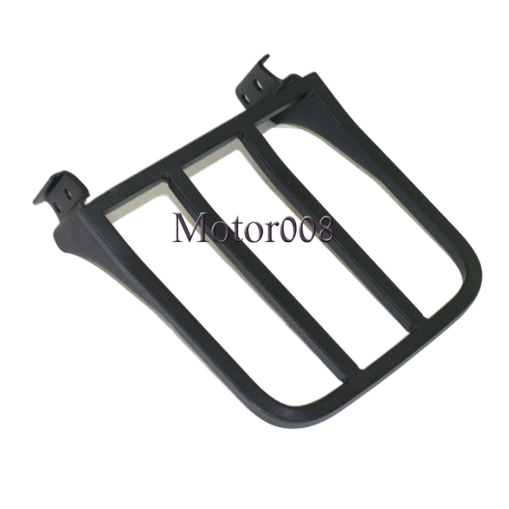 Black Chrome Sissy Bar Backrest Luggage Rack Rear Carrier For Harley Sportster XL 04-17 Dyna 06-17 Softail 84-05 FLST FLSTC bar rear axle covers for harley davidson heritage softail classic deluxe flst slim fls flstc flstn flstsb cross bones 2008 2017
