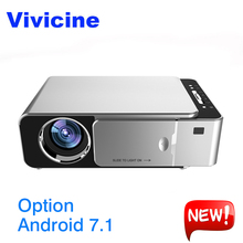 VIVICINE Newest V200 1280X720P LED HD Projector Optional Android 7 1 Bluetooth Support 4K Wifi HDMI