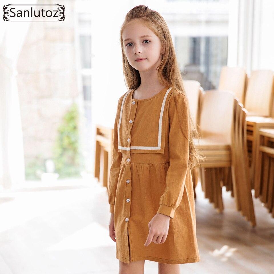 82dce4b3d Купить Sanlutoz зимнее платье для девочек Праздничная детская одежда  принцессы Детская одежда 2017 новая модная брендовая одежда для свадьбы,  дня рожде.