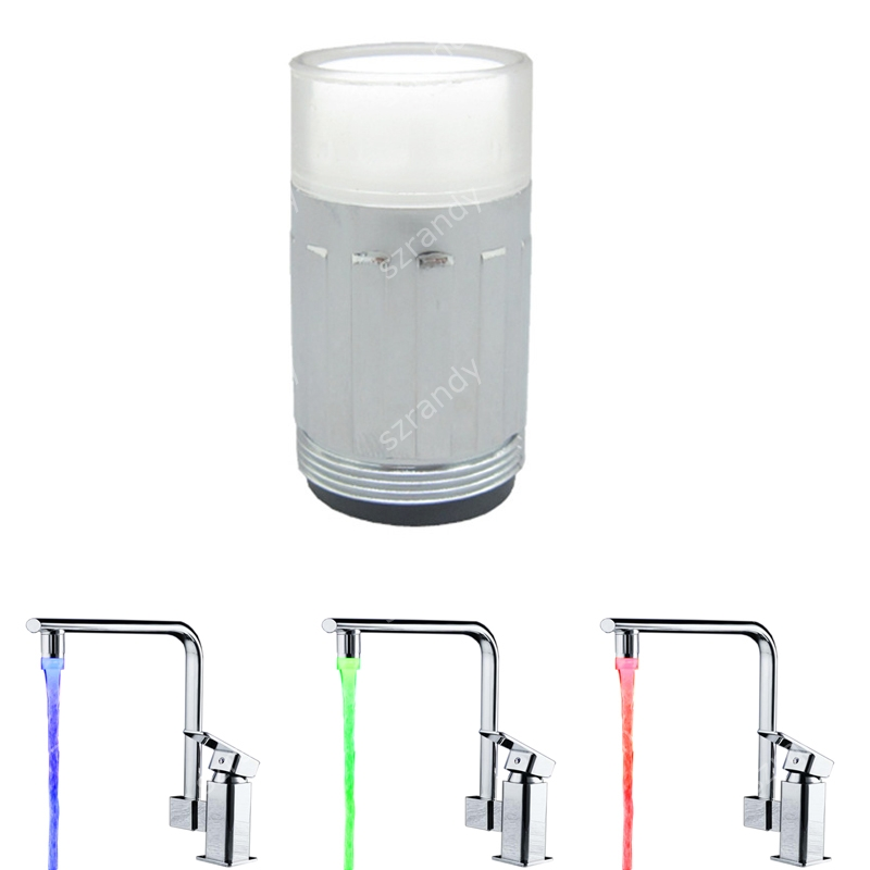 Bathroom Light Temperature: ABS Material Red, Blue, Green 3 Colors Bathroom Led Faucet