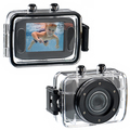 "Cheap Gift Sports Camera 12Mp Max 720P Video 0.3MP CMOS Sensor Waterproof Sports Action Camera 1.77"" Screen 4X Digital Zoom"