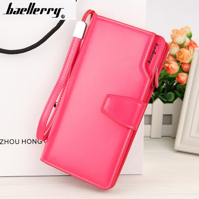 Baellerry PU Leather Women Wallets Brand Design High Quality 2017 Cell phone Card Holder Long Lady Wallet Purs 2015003  nucelle brand new design french style threads cow leather women lady long wallets clutches cards phone holder