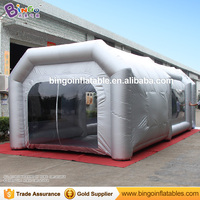 Бесплатная доставка 9x4 x м 3 м свет Silgver цвет мобильный надувной гараж мастерская краска в баллоне распылителе стенд палатки с фильтрами для и